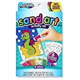 ArtSkills Sparkly Sand Art Activity Kit, Arts and Crafts Supplies, 6 Peel and Sprinkle Scenes to Create, 8 Sand Colors, 1 Glitter Bag