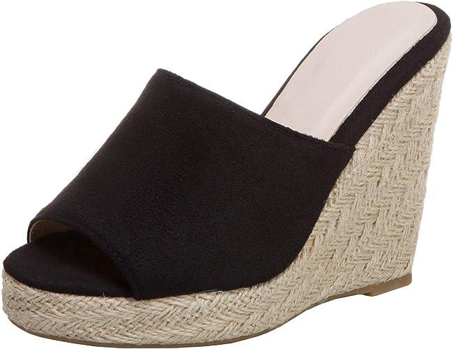 LUXMAX Womens Peep Toe Wedge High Heel