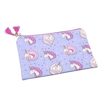 Ogquaton Bolso de Tela púrpura para Mujer Monederos Diseño ...