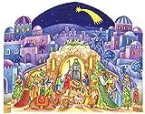 Boston International Christmas Advent Calendar, 14 x 10.5-Inches, Manger Landscape