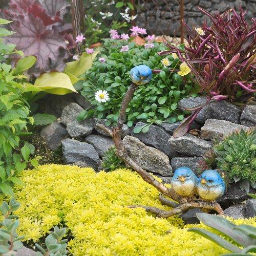 (Miniature Fairy Garden Blue Birds on a Twig)