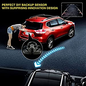 Parking sensor TVIRD 2017 NEWEST Backup sensor kit 4 Parking Sensors Car Reverse Backup Radar System with extra backup camera car alarm(Painted to any color)