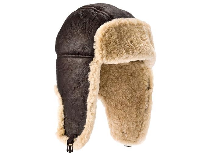 df13bd77ba Genuine Sheepskin Leather Hand Crafted Mens Aviator   Trapper Flying ...
