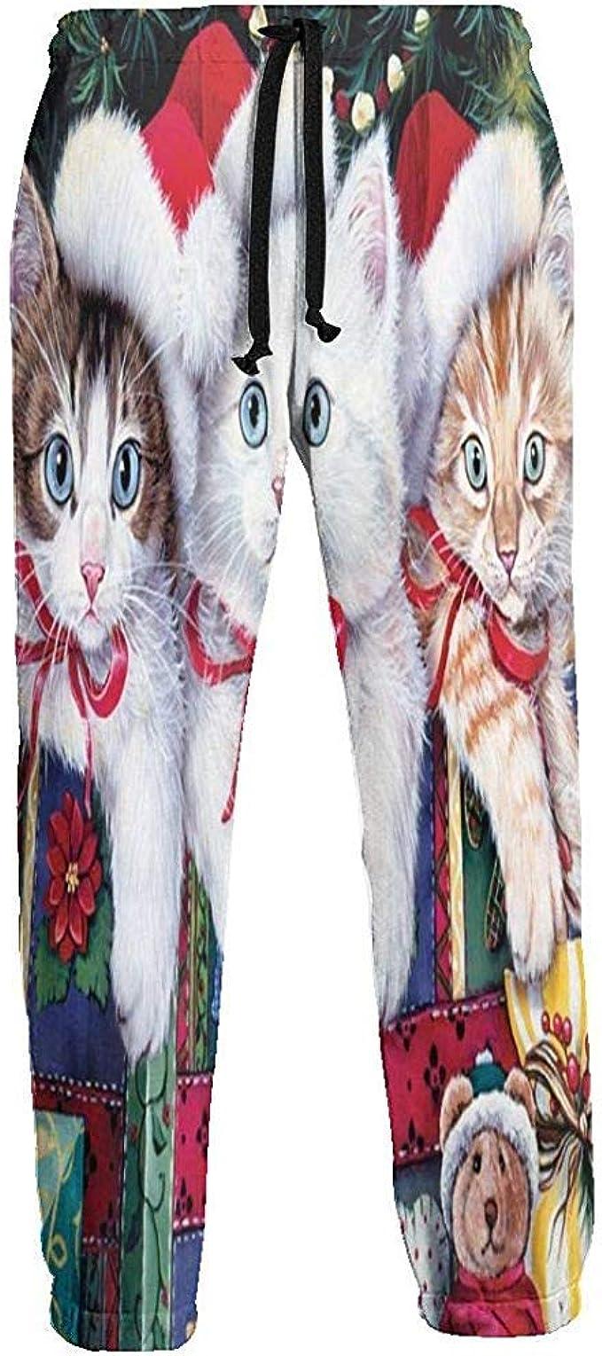 Emild Pantalones de chándal para Hombres Sombrero navideño Tres ...