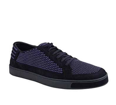 official photos 8fca2 c04be Amazon.com: Gucci Bubble Studs Lace up Dark Blue Suede ...