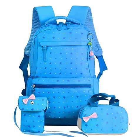mochila niñas adolescentes Mochila Escolar Impermeable niñas Bolsos Mochilas Mochila Escolar + Bolsa De Hombro +