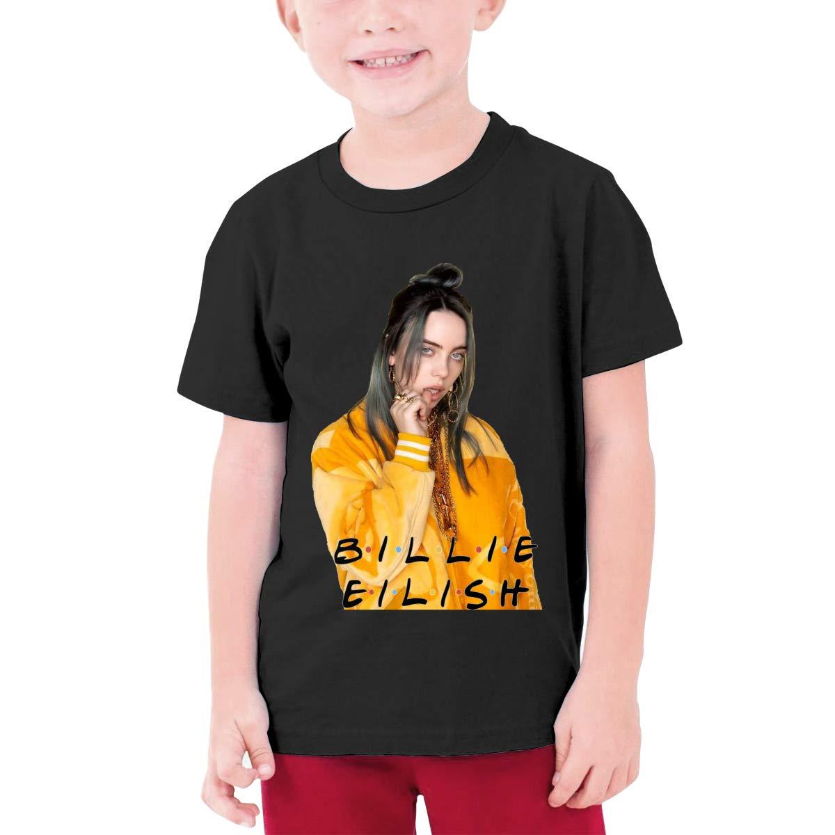 Qq7 Lcwbc Store Billie Eilish Boysgirls Short Sleeve Youth Kids Top S Nage Shirts