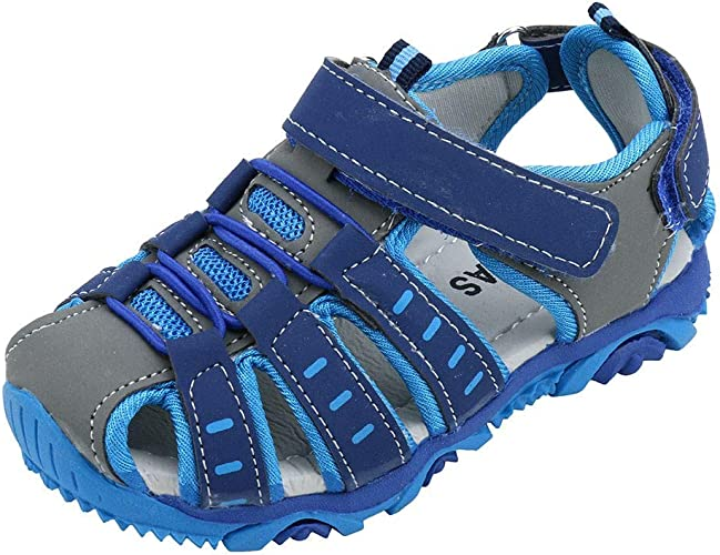 Toddler Kid Boy Girl Breathable Athletic Close Toe Sandal Sport Water Hiking Sandals Outdoor Fisherman Sandals by Lowprofile
