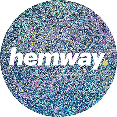 - Hemway Turquoise Holographic Premium Glitter Multi Purpose Dust Powder 100g / 3.5oz for use with Arts & Crafts Wine Glass Decoration Weddings Cards Flowers Cosmetic Face Eye Body Nails Skin Hair