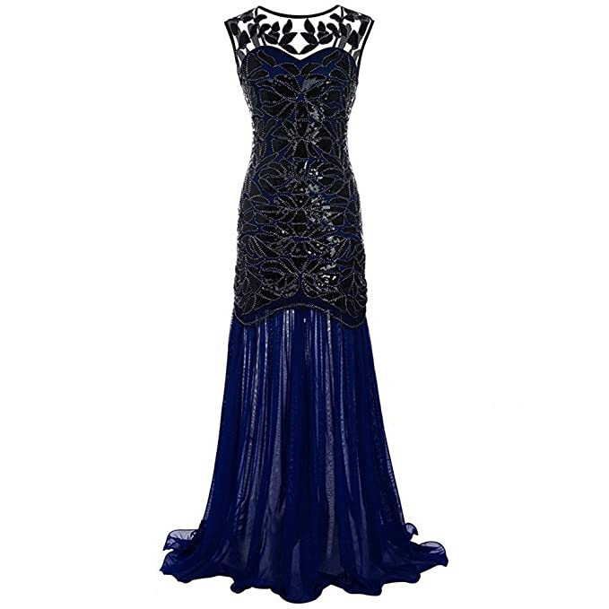 29b547de4 M MAYEVER Mayever - Vestido Largo de Noche de Graduación con Lentejuelas  Negras para Mujer de