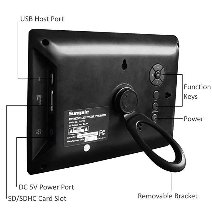 Amazon.com : Sungale CA705 7-Inch Digital Photo Frame (Black ...