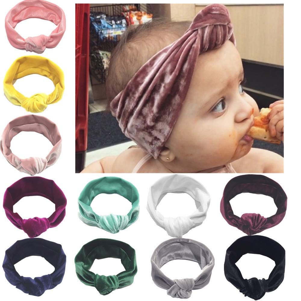 Mamum bandeaux en coton de cheveux pour bébés fc335f33703