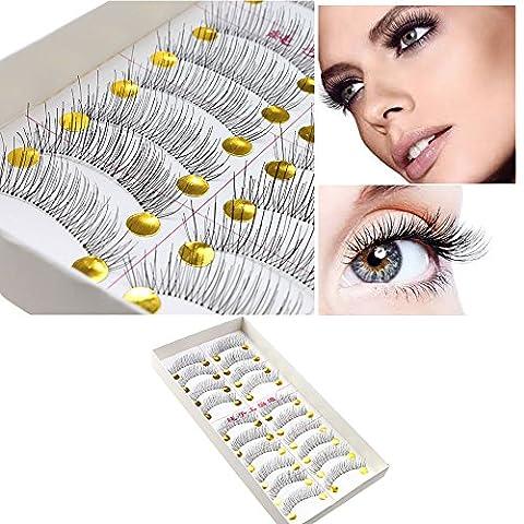 10Pairs Makeup Handmade Soft Natural Fashion Long False Eyelashes Eye Lashes New - Simple Green Hand Cleaner