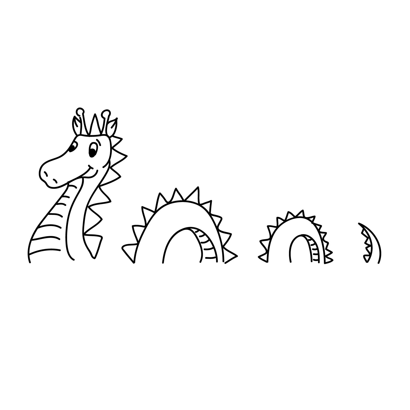 Loch Ness Cartoon Monster - Vinyl Wall Art Decal for Homes, Offices, Kids Rooms, Nurseries, Schools, High Schools, Colleges, Universities, Interior Designers, Architects, Remodelers