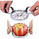 CoscosX 1pcs 12-Blades Apple Slicer,Corer, Cutter, Wedger, Divider - Stainless Steel Blade,Silver
