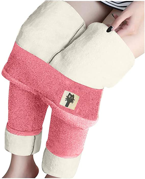 Fleece Hot Super Thick Cashmere Wool Leggings High Waist Winter Warm Pants 5XL