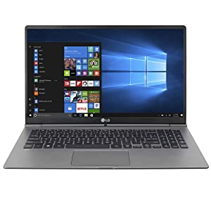 """LG Gram Thin and Light Laptop - 15.6"""" Full HD IPS Display, Intel Core i7 (8th Gen), 16GB RAM, 256GB SSD, 2.4lbs, (15Z975-U.AAS7U1)"""