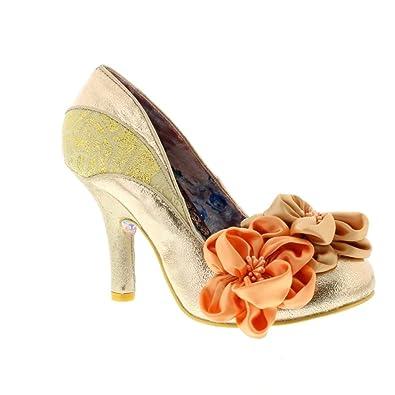 Irregular Choice Peach Melba - Rose Gold Rose QIN&X Bloc de femmes chaussures à bout pointu QIN&X Loisirs Femmes Télévision Tête Ronde Chaussures Bouche Peu Profondes Black Q3PIL