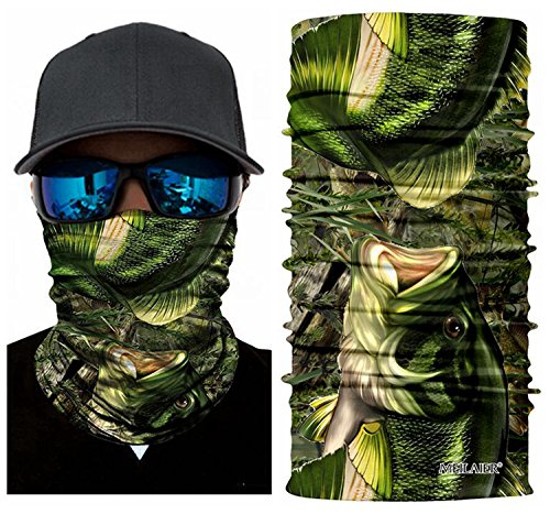 Review MEILAIER UV Fishing Mask Moisture Wicking Headband Seamless Bandana COOLMAX Microfiber for Cycling Running Hunting Motorcycle Head Wear