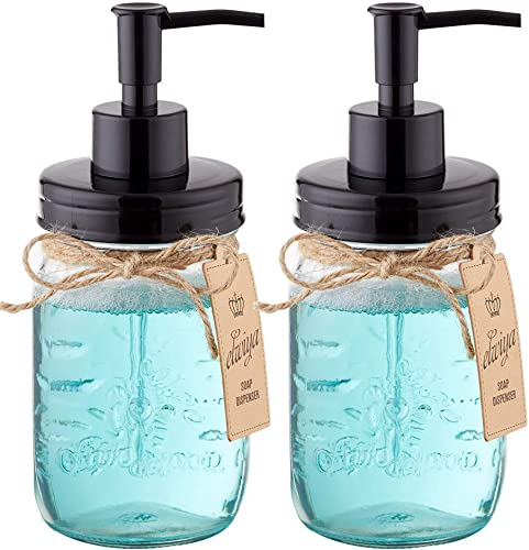 Elwiya Mason Jar Soap Dispenser