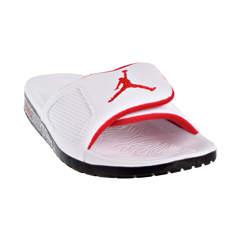 3473b49d81a Amazon.com | Nike 854556-103 : Jordan Men's Hydro III Retro Sandal  White/Red (13 D(M) US) | Basketball