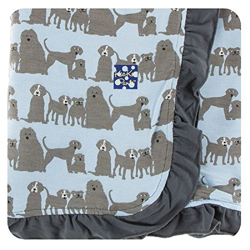 Kickee Pants Print Ruffle Stroller Blanket – London Dogs