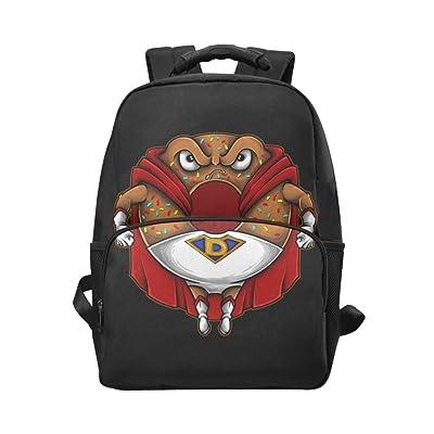 7bd2dd3bc278 InterestPrint Cartoon Flying Donut Custom Casual Backpack School Bag ...