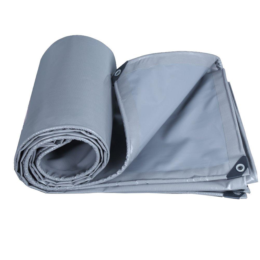 Fly Tarpaulin Doppelseitige Wasserdichte Sonnencreme Sonnenschutz Anti-Aging Reißfest LKW Camping Leinwand - Grau 0.45mm-550g/㎡