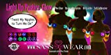 Sasswear Pink Star Light up LED Pasties Nipple