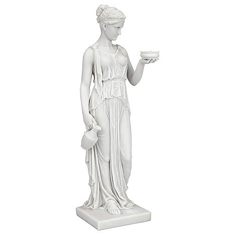 Statua Toscano Design Wu75343 Marmo EbeLa Della Cm Dea 5x10x29 Resina GiovinezzaBianco7 In RqALj345