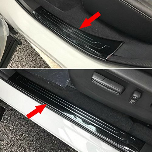 Beautost Fit For Honda 2017 2018 NEW CR-V CRV Stainless Steel Inside Door Sill Scuff Plate Guard Cover Trim (Black) Door Sill Trim