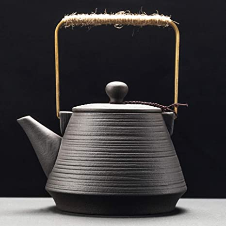 AA-SS Tetera de cerámica Bote de té Tetera viga de elevación ...
