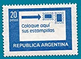 Stick your stamps to the right 20 Pesos