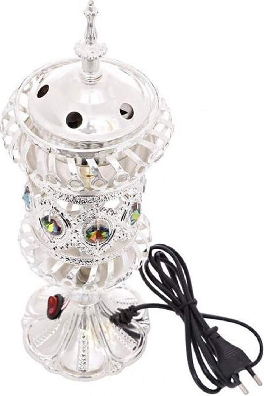 Silver Arabian Patterned Metal Decorative Bakhoor Incense Burner Censer