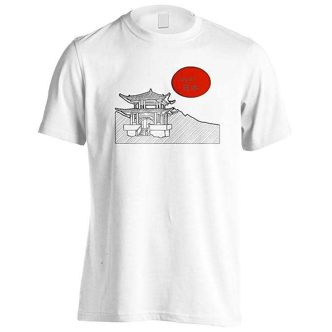 Arte De La Pagoda Japonesa Camiseta de los hombres p392m: Amazon.es: Ropa y accesorios