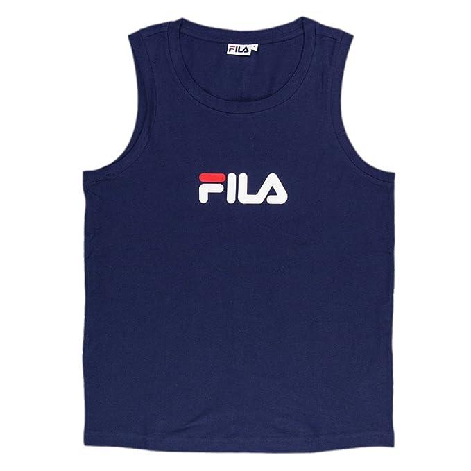 Hombre Talla Azul Camiseta De Marka Fila Para Tirantes 52 EHIWD9Y2