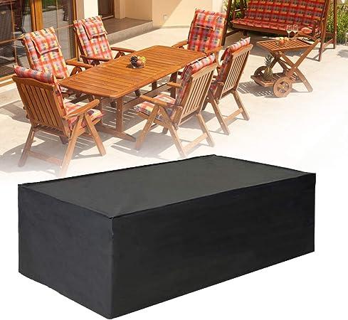 E.Enjoy Funda Protectora Muebles Jardín Cubierta Mantel rectángulo for el Asiento Outdoorfor, Mesa y sillas Impermeable y Transpirable Resistente al Desgaste Duradero (Size : L*W*H:60x60x60cm): Amazon.es: Hogar