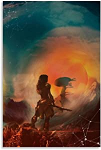 luoshi Horizon Zero Dawn Art Canvas Art Poster and Wall Art Picture Print Modern Family Bedroom Decor Posters 12x18inch(30x45cm)