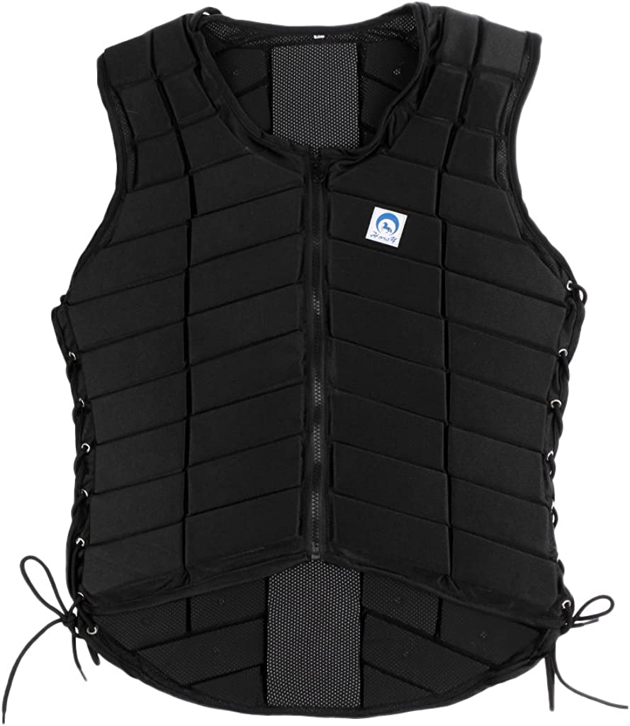 Jili Online Safety Horse Riding Equestrian Vest EVA Padded Protective Body Protector Back Protection Gear Equipment for Children Adult Men Women : Sports & Outdoors
