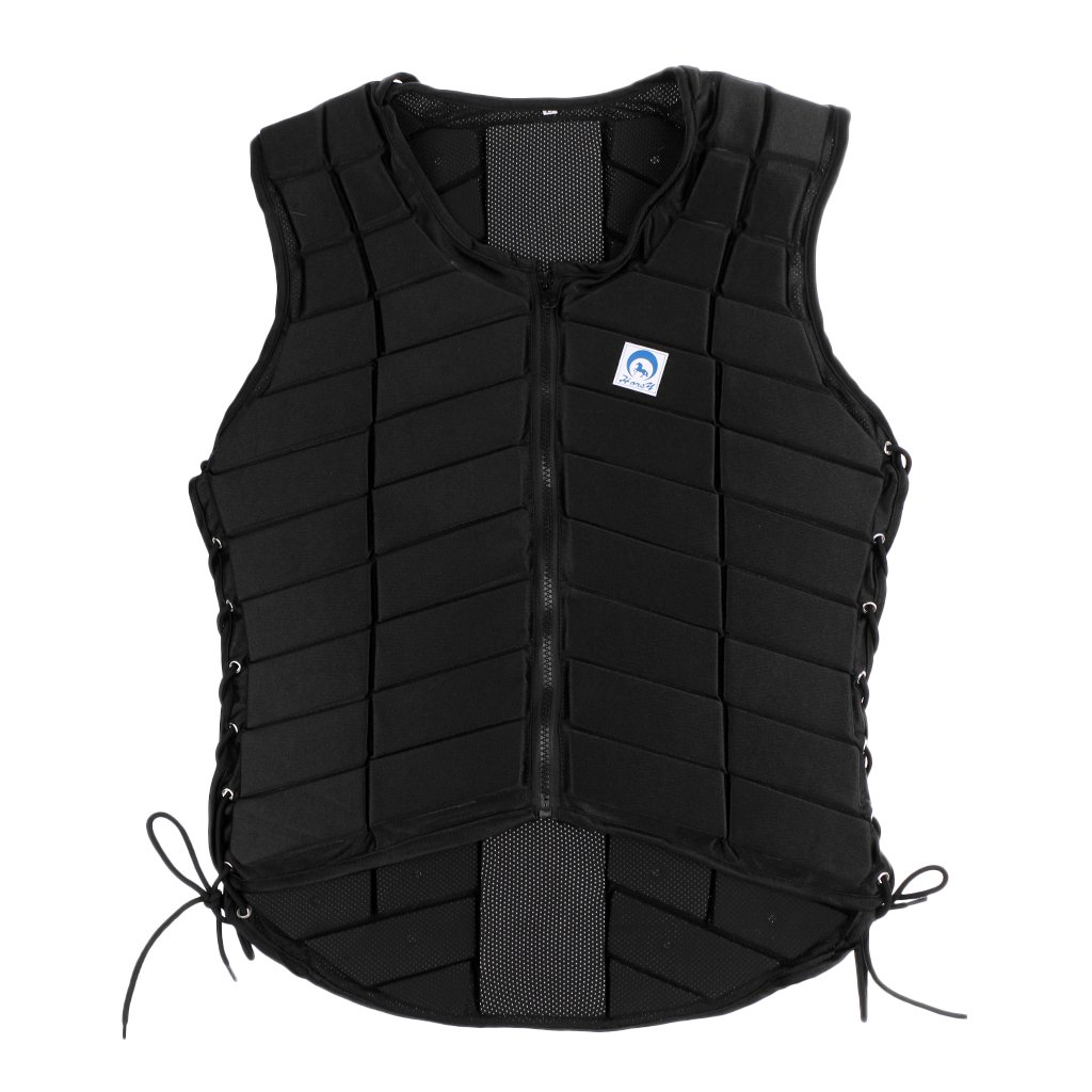 MonkeyJack Safety EVA Padded Breathable Horse Riding Equestrian Vest Protective Gear Body Protector Guard Shock Absorption Waistcoat - Kids Adult All Size Available