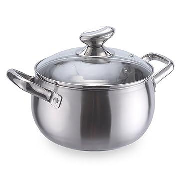 WJF Olla olla estofado olla gruesa cocina de acero inoxidable olla ...