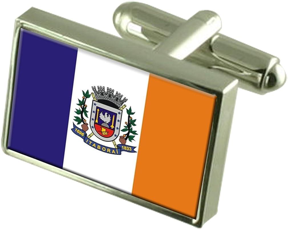 Itaborai City Rio de Janeiro State Flag Cufflinks