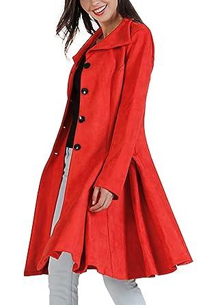 Vosujotis Abrigo De Tweed para Mujer Abrigo De Invierno ...