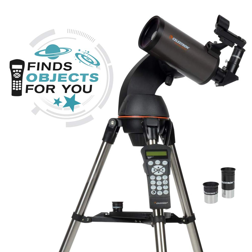 Celestron - NexStar 90SLT Computerized Telescope - Compact and Portable - Maksutov-Cassegrain Optical Design - SkyAlign Technology - Computerized Hand Control - 90mm Aperture by Celestron