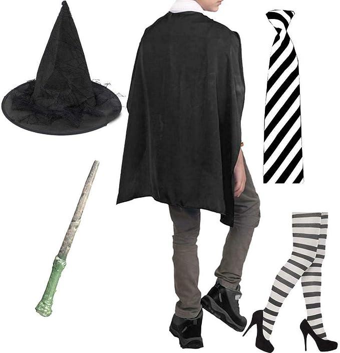 Style Wise Fashion Set de medias para disfraz de bruja con cuello ...