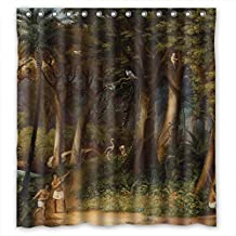 Slimmingpiggy Polyester Beautiful Scenery Landscape Painting Shower Curtains Width X Height 60 X 72 Inches