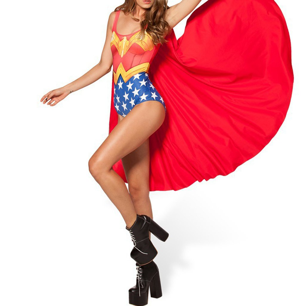 Amazon.com: Lady Queen para mujer Wonder Woman traje de baño ...