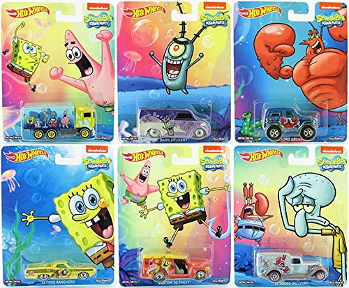 SpongeBob Square Pants Pop Culture set 2015 with Mr. Krabs, Squidward, Patrick & Plankton Hot Wheels