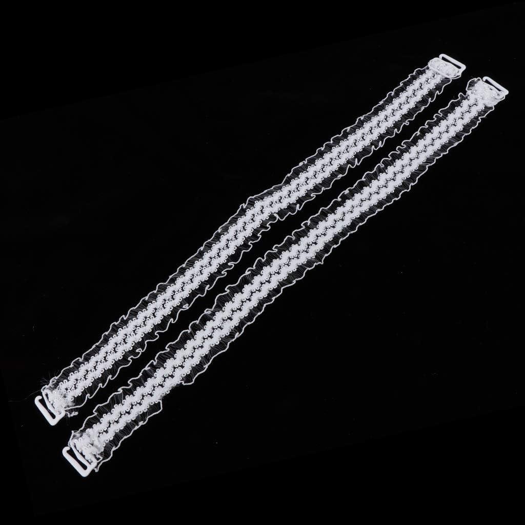 SM SunniMix 2 Pair Removable Nonslip Lace Bra Straps Elastic Shoulder Strap Replacement