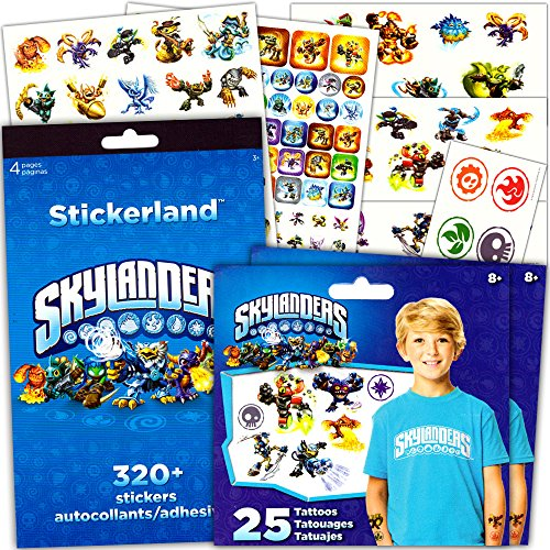 Skylanders Stickers & Tattoos Party Favor Pack (270 Stickers & 50 Temporary Tattoos)